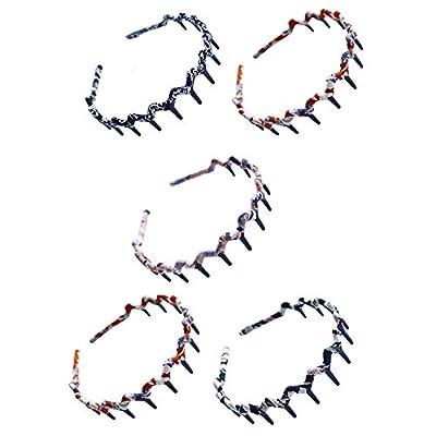 Set of 5 Handcraft Cloth Teeth Waves Headband Hair Band Hairbands for Women - inexpensive UK light store.