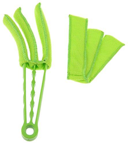 Práctico 3-blade Aire Acondicionado Cleaner Cepillo De Persiana Venecianas Cepillo Cepillo De...