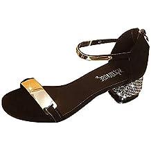 ... el corte ingles sandalias mujer. Luckycat Sandalias Mujer Sandalias de Verano Mujer Zapatos de tacón Grueso Zapatos de tacón Alto Zapatos