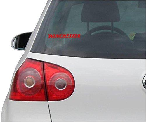 Preisvergleich Produktbild Aufkleber / Autoaufkleber - JDM - Die cut - Winchester Decal Window Laptop Vinyl Sticker - rot - 149mmx20mm