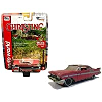 Figura del coche Plymouth Fury Christine de 1958, de Auto World, escala 1:64