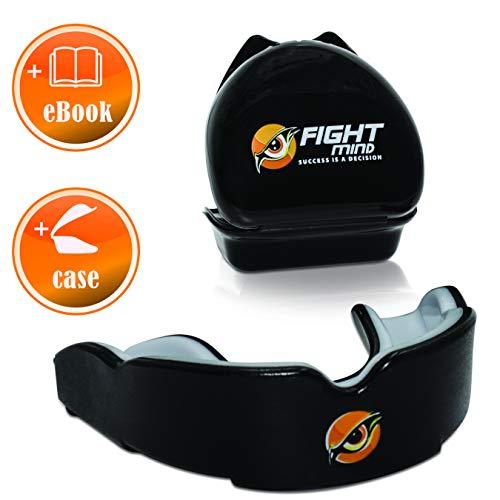 FIGHT MIND Protection Field Mundschutz - Zahnschutz für Boxen, Kampfsport, MMA, Kickboxen, Muay Thai | + Exklusiver Ratgeber + Zufriedenheitsgarantie |