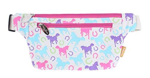 Preisvergleich Produktbild Milly Green Ponys Pferd Verspieltes Design Pink Blau Bauchtasche