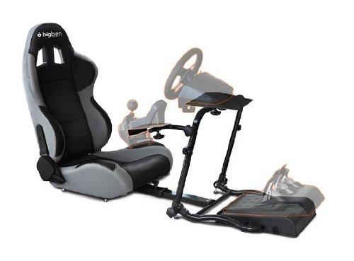 Siège baquet avec supports pour volant + levier de vitesse et pédalier pour PS3 / Xbox 360 / PC