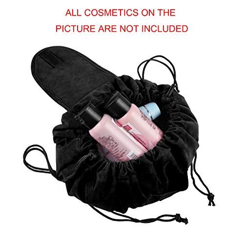 Schnelle Kosmetiktasche, Runde Samt Kosmetiktasche, multifunktionale Damen Kosmetiktasche von SKYNEW, Baby Pink