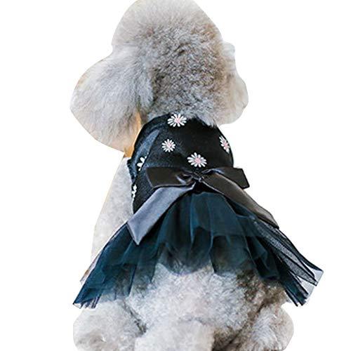 Haustiere Kostüm Frühlings-Sommer-Ineinander greifen Prinzessin Kleid-Haustier-Rundhalsausschnitt Bowknotkleid