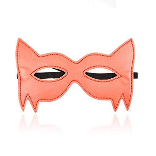 MXD Batman Eye Mask Masquerade liefert weiches verstellbares Leder-T-Shirt (Color : Orange) (Orange Leder-shirt)