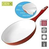 Oryx 5023005 Keramik Pfanne für Induktionsherd, 28 cm