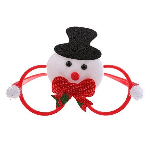 MagiDeal Weihnachten Partybrille Spaßbrille Sonnenbrille Kinder Geschenk, Schneemann Muster - Typ 2