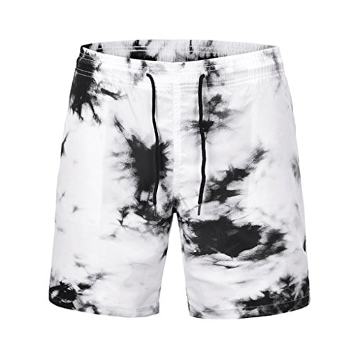 Malloom® Männer Casual 3D Graffiti Gedruckt Strand Arbeit Casual Männer Kurze Hosen Hanfhosen Strandhosen Freizeit (Blass Mann Kostüm)