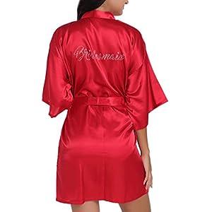 Plus Size Sexy Lingerie Women Silk Stripe Robe Satin Bathrobe Sleepwear Pajamas, Tops for Women UK Size Autumn Winter Blouse