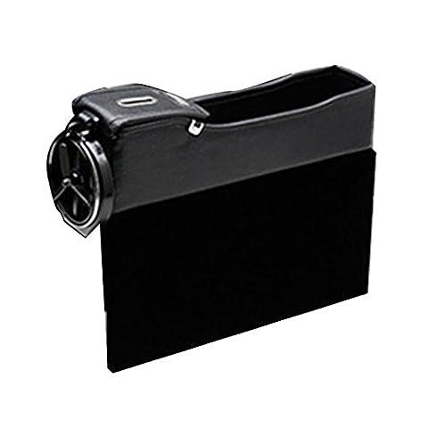Zhuhaitf Pour les voitures Convenient Durable Car Seat Side Pocket Storage Organiser Case Bag with Cup Holder Car Interior Accessory (1PCS)