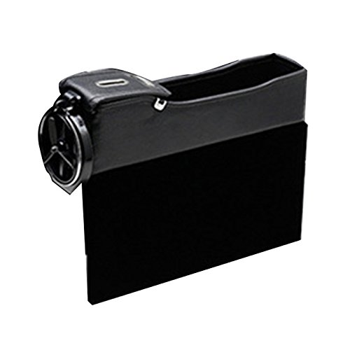 Preisvergleich Produktbild Zhhlinyuan gute Qualität Multi-function PU Leather Car Seat Catcher Side Pocket Organizer Storage Pouch Box with Cup Holder - 1PCS