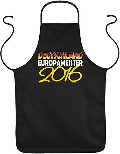 bedruckte Grillschürze Fanartikel zur Fussball Europameisterschaft 2016 - Geschenk Grill Schürze Kochschürze Latzschürze Partyschürze Küche