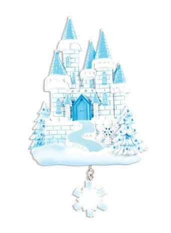 Frozen Castle Personalized Christmas Tree Ornament by Polar X