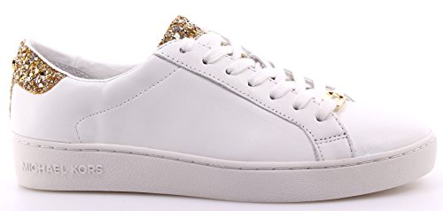 michael-kors-donna-sneakers-basse-43s6irfs1l-irving-lace-up-bianco-oro-taglia-39-bianco-oro