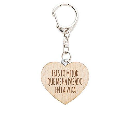Llavero de Madera con Forma de Corazón Regalo para Hombres Eres Lo Mejor Que Me Ha Pasado Llaveros para Parejas para San Valentin Regalo para Mujeres y Hombres
