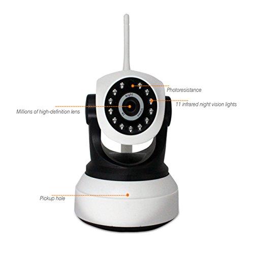 Bewegungsmelder-Kamera, 720P Fernüberwachung-System-Videowiedergabe Doppel-Weg-Gespräch HD Webcam-Kamera für Innen- und im Freiengebrauch