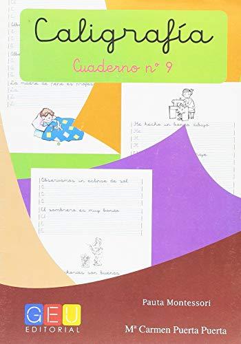 Caligrafía con Pauta Montessori - Cuaderno 9