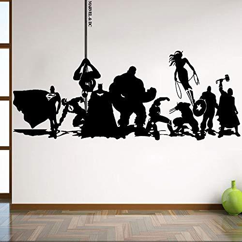 ljradj Cartoon Avengers Wandaufkleber Wandtattoo Art DIY Kinderzimmer Wohnzimmer Dekoration Wanddekoration Aufkleber Wandbild 87 cm X 220 cm