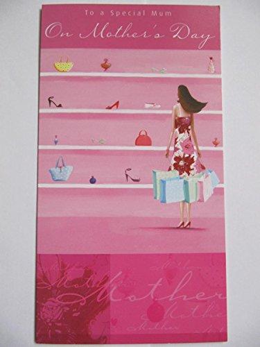 Wonderful bunt glänzend beschichtet Shop til You Drop Mütter Tag Grußkarte -