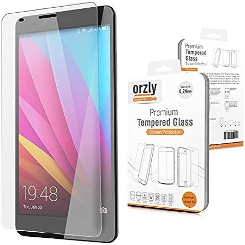 Orzly® - Premium Vetro Temperato 0,24mm per HUAWEI HONOR 5X SmartPhone (2015 GR5 Modello) - Pellicola Prottetiva Vetro Solido Protezione dello Schermo Ultra Resistente 8-9H - TRANSPARENTE