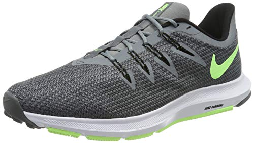 Nike Quest Scarpe da Atletica Leggera Uomo, Multicolore (Cool Grey/Lime Blast/Black/White 007) 45 EU