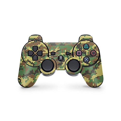Skins4u Playstation 3 Controller Skin - Design Aufkleber Sticker Set für PS3 Gamepad - Digital Woodland Camo