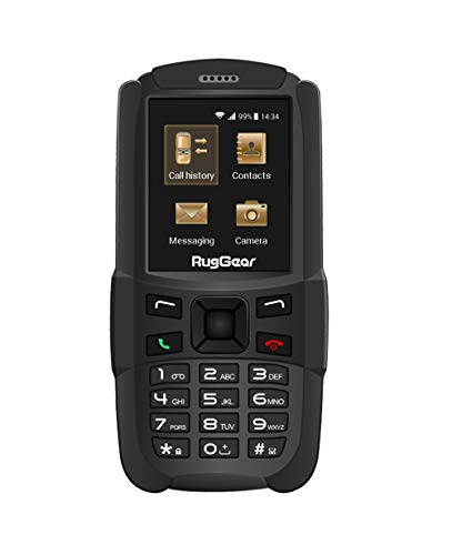 RugGear RG129 Outdoor-Handy ohne Vertrag - Wasserdicht, Staubdicht, Stoßfest, Verstärktes Gehäuse und Display, Dual-SIM