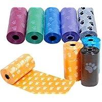 ABCMOS 1 Rollen-Haustier-Hundeabfall-Abfall-POO-Taschen, die abbaubaren sauberen Verteiler Drucken