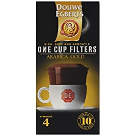 Douwe Egberts Arabica Blend One Cup Filters (Pack of 4) 41SVi 2BzOESL