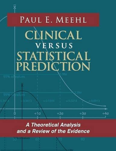 Clinical Versus Statistical Prediction: A Theoretical Analysis and a Review of the Evidence by Paul E Meehl (2015-09-10)