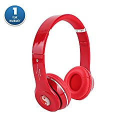 Acid Eye�S460 Wireless Bluetooth HeadphoneOver The Ear Headphones 2.1 Stereo Headphone Headset Earphone for mobile phoneDC With Mic and INBUILT FM RADIO- Red