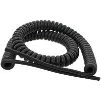 Cable en espiral, 3G1 mm, longitud: 3 m, color negro