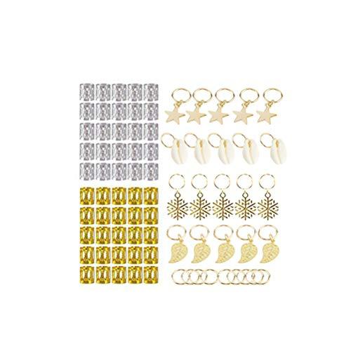 arschmuck Ringe Aluminium Dreadlocks Perlen Metall Manschetten Haarschmuck Ringe Clips ()