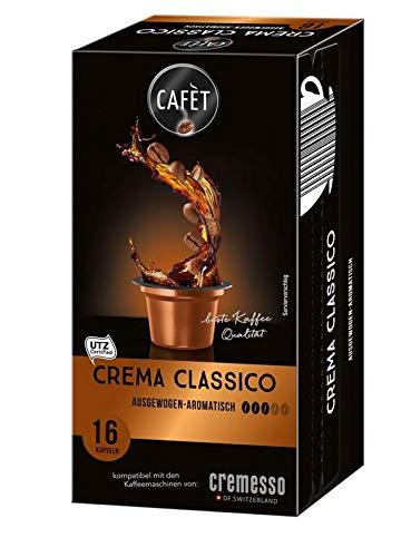 Cafèt Crema Classico 80 Kapseln - für Cremesso/Delizio Kaffeemaschinen (neues Design)