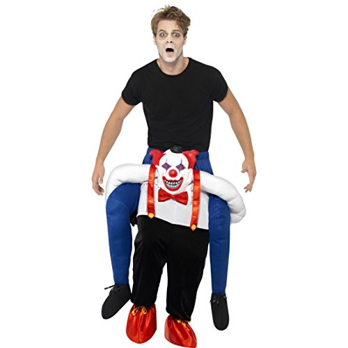 Clownkostüm Huckepack Kostüm Horrorclown Böser Clown Trag mich Faschingskostüm Gruselclown Piggyback Outfit Junggesellenabschied ausgefallenes (Kostüme Böse)