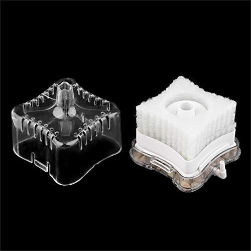 Candyboom Acryl Kunststoff Sauerstoff Luft angetrieben biochemischen Schwamm Aquarium Super Aktivkohle Wasserfilter Aquarium Filter (Aluminium Luft Tank)