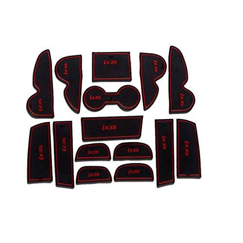 Car antipoussière Porte Fente Pad Coupe Auto Paillasson Coussins Groove pour Hyundai IX35 09-15 Intérieur décoration soignée Regard