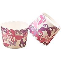 Chinashow 150 Unidades Resistente al Calor Cupcake Wrappers Multicolor Butterfly Moldes para Cupcakes