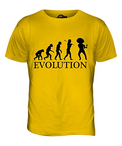 CandyMix Mexikanische Tänzer Evolution Des Menschen Herren T Shirt Dunkelgelb