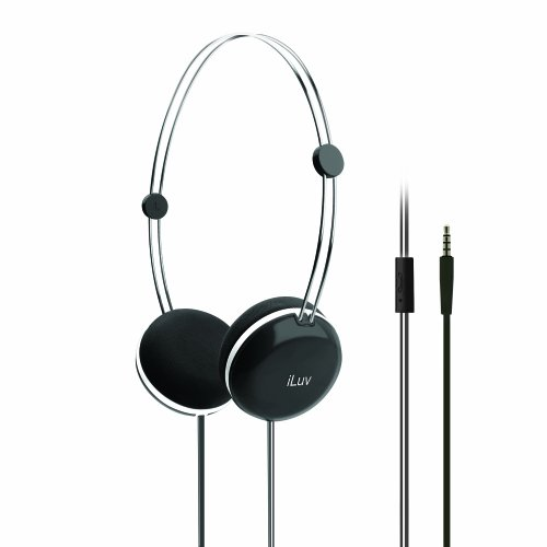 iLuv Sweet Cotton Kopfband Stereophonisch schwarz-Kopfhörer (Kopfband, Stereophonisch, Schwarz, verkabelt, ohraufliegend, Telefon) -