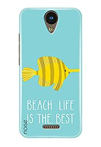 Noise YU Yunique 2 Printed Cover For YU Yunique 2 Case/ Quotes/Messages / Beach Life Is The Best Design-(GD-1739)