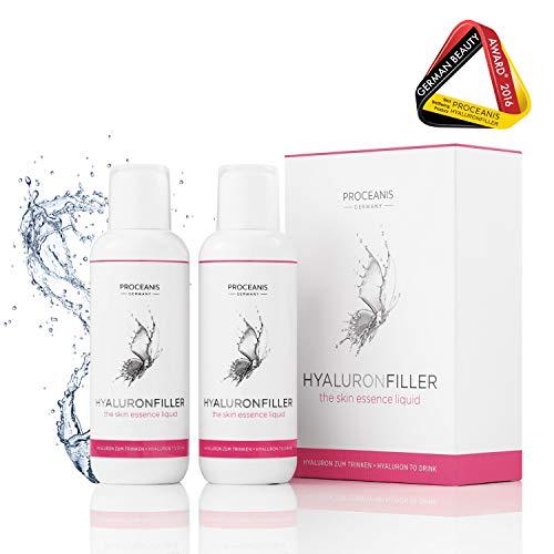 Hyaluron zum Trinken. Prämierter Anti-Aging Beauty Drink für schöne Haut. 50 Tage Anti-Falten Serum. Hyaluronsäure hochdosiert, Vegan -