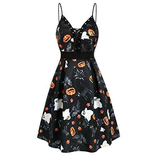 Kürbis Ausschnitte - Halloween Kostüm Damen, V-Ausschnitt Kürbis Bat