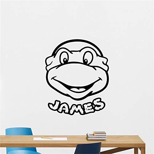mer Personalisierte Ninja Turtles benutzerdefinierten Namen Aufkleber Kids Teen Boy Roombedroom Wall ()