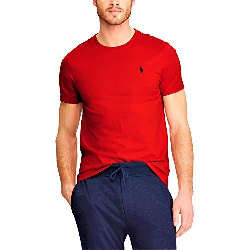 Ralph Lauren T-Shirt Round Neck Custom Slim Fit (XXL, RL 2000 Red)