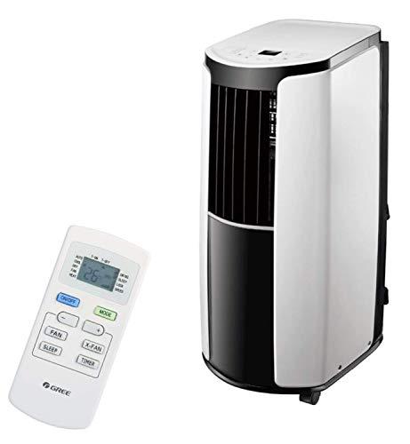 technik@all GREE Shiny Silent 12000, 3 in 1 mobiles Klimagerät mit Fernbedienung, R290 Kältemittel, 2,6 KW/12000 BTU