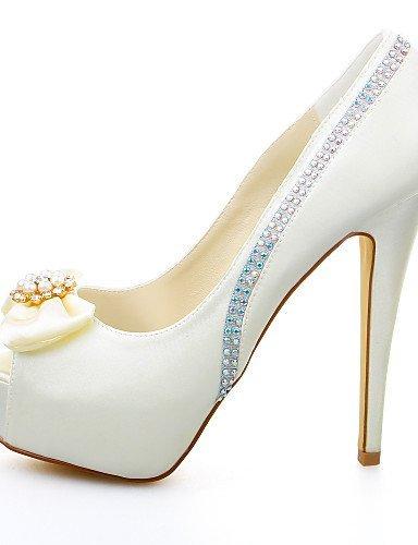 ShangYi Schuh Damen - Hochzeitsschuhe - Absätze - Sandalen - Hochzeit / Kleid / Party & Festivität - Elfenbein 5in & over