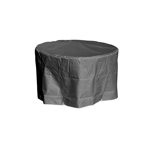 Housse de protection pour Table de Jardin ronde Haute qualité polyester D 120 x h 70 cm Couleur Anthracite